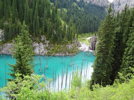 Kolsay and Kaindy lakes