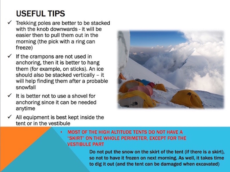 winter camping rules